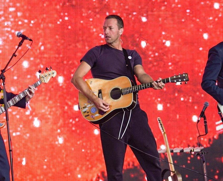 30th June 2019: Chris Martin & Kylie Minogue - Glastonbury Festival, Worthy Farm, Pilton, England